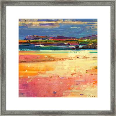 Tangusdale  Barra Framed Print by Peter Graham