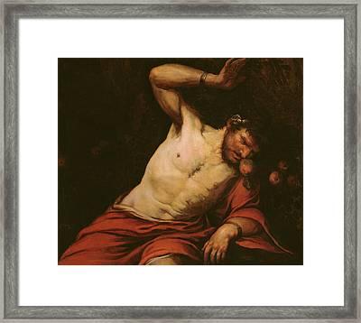 Tantalus Framed Print by Giambattista Langetti