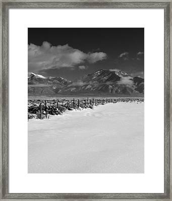 Taos Mountain Morning Framed Print by Troy Montemayor
