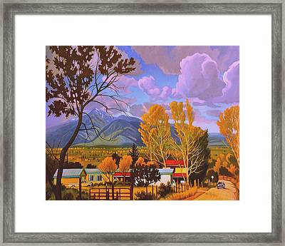 Taos Red Roofs Framed Print by Art West