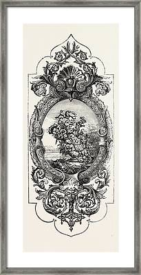 Tapestry Pattern Framed Print by English School