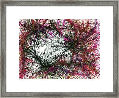 Tapping In To The Energy Fields Of Life #640 Framed Print by Rainbow Artist Orlando L aka Kevin Orlando Lau