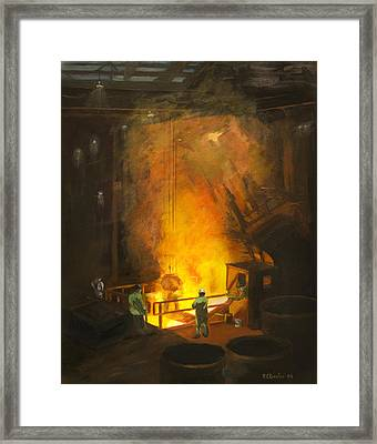 Tapping The First Heat Framed Print by Martha Ressler
