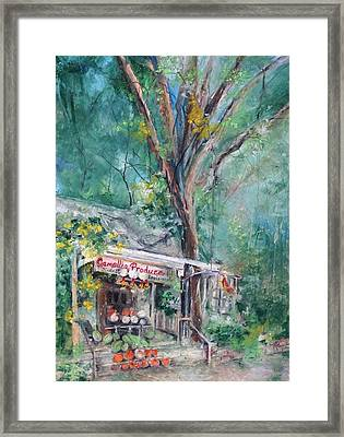 Tara And Jack's Slidell Produce Framed Print by Robin Miller-Bookhout