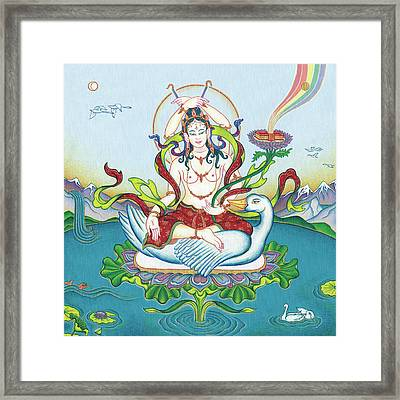 Tara Protecting Against Poisons And Naga-related Diseases Framed Print by Carmen Mensink