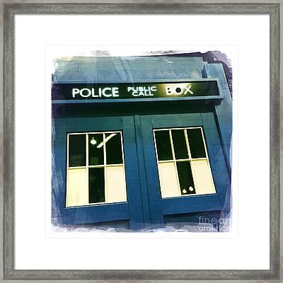 Tardis Dr Who Framed Print by Nina Prommer