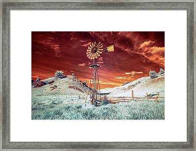 Tarnished Windmill Framed Print by Todd Klassy