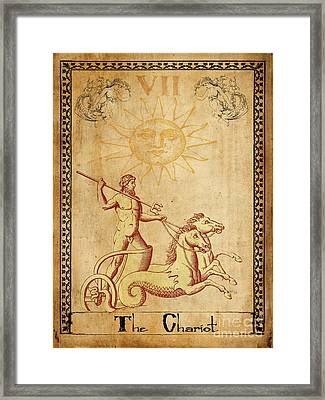 Tarot Card The Chariot Framed Print by Cinema Photography