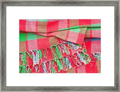 Tartan Blanket Framed Print by Tom Gowanlock