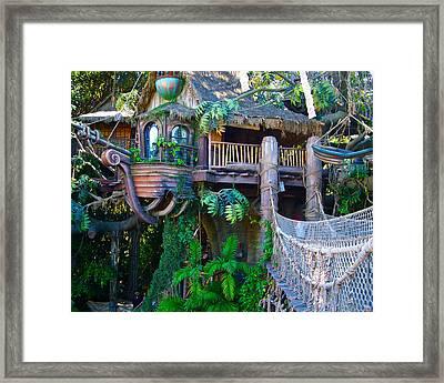 Tarzan Treehouse Framed Print by Karon Melillo DeVega