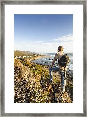 Tasmania Bushwalking Tourist Framed Print by Jorgo Photography - Wall Art Gallery