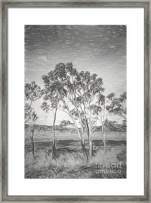 Tasmanian Countryside Illustration Framed Print by Jorgo Photography - Wall Art Gallery