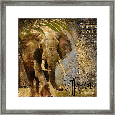 Taste Of Africa Elephant Framed Print by Mindy Sommers