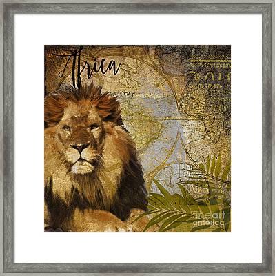 Taste Of Africa Lion Framed Print by Mindy Sommers