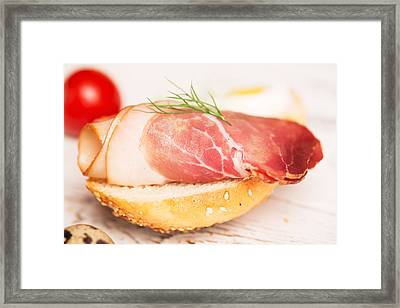 Tasty Tapas With Jamon Framed Print by Vadim Goodwill