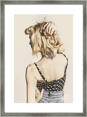 Tattoo Pin-up Framed Print by Jorgo Photography - Wall Art Gallery