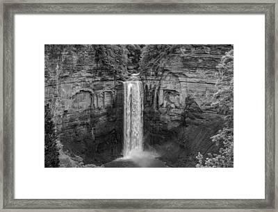 Taughannock Falls 4 - Bw Framed Print by Steve Harrington