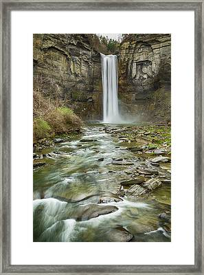 Taughannock Falls After The Thaw Framed Print by Stephen Stookey