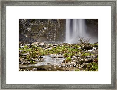 Taughannock Falls Base Framed Print by Stephen Stookey