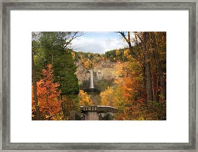Taughannock Falls Splendor Framed Print by Jessica Jenney