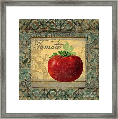 Tavolo, Italian Table, Tomate Framed Print by Mindy Sommers