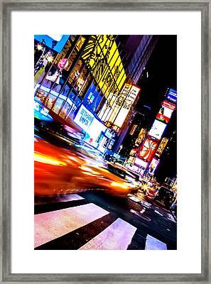 Taxi Square Framed Print by Az Jackson
