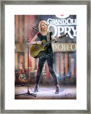 Taylor At The Opry Framed Print by Don Olea