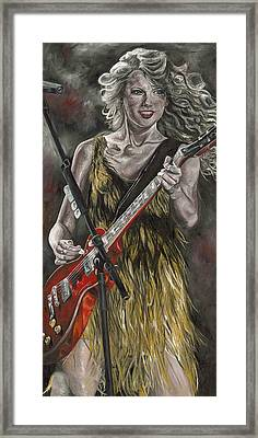 Taylor Swift Framed Print by David Courson