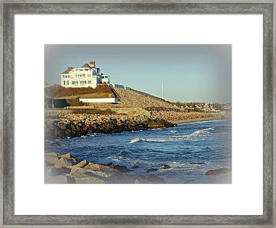 Taylor Swift Rhode Island Home Framed Print by Diane Valliere
