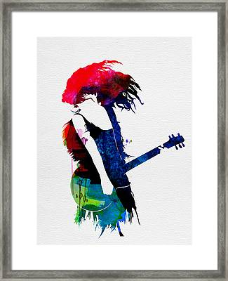 Taylor Watercolor Framed Print by Naxart Studio