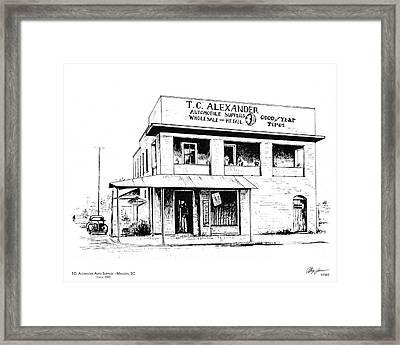 Tc Alexander Store Framed Print by Greg Joens