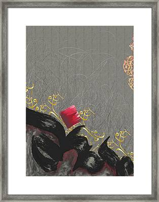 Tc Bismillah Abstract Framed Print by Team CATF