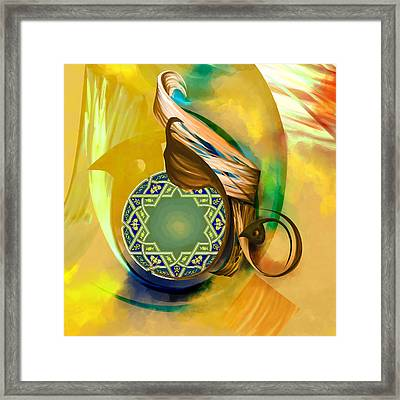 Tc Calligraphy 31 8  Framed Print by Team CATF