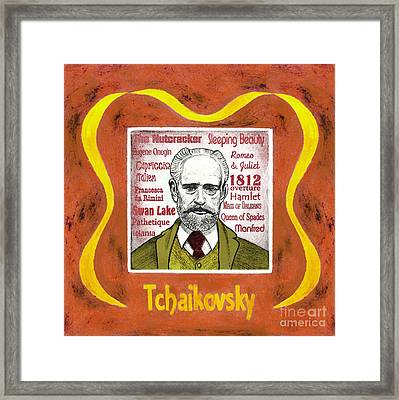 Tchaikovsky Portrait Framed Print by Paul Helm