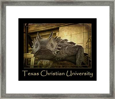 Tcu Frog Poster 2015 Framed Print by Joan Carroll