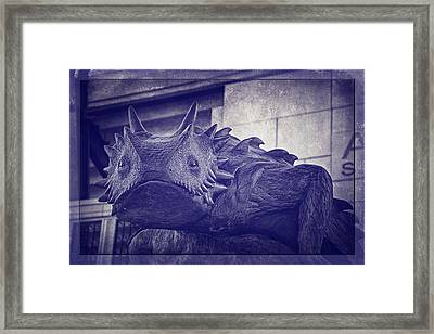 Tcu Horned Frog Purple Framed Print by Joan Carroll
