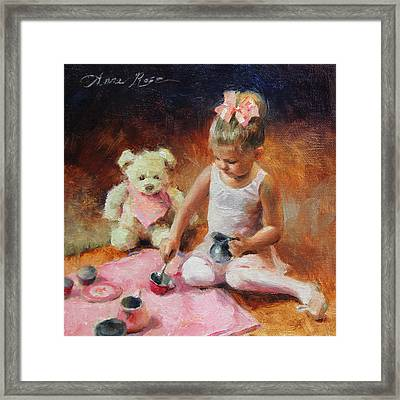Tea For Two Framed Print by Anna Rose Bain