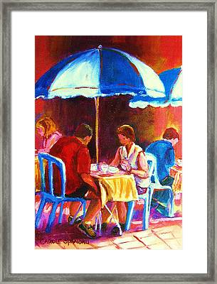 Tea For Two Framed Print by Carole Spandau