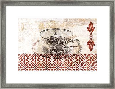 Tea House Framed Print by Frank Tschakert