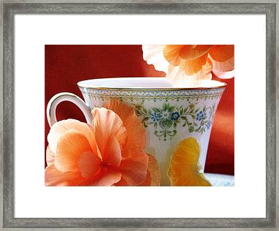 Tea In The Garden Framed Print by Angela Davies