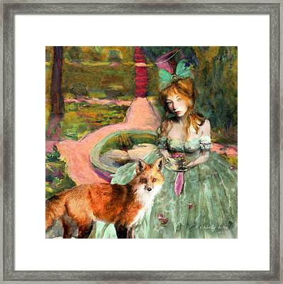 Tea In The Garden Of Alnwick Framed Print by Kimberly Potts