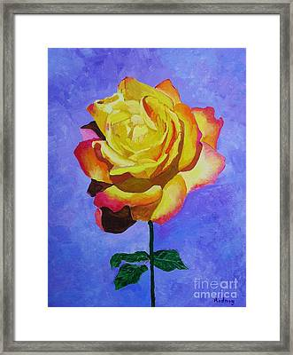 Framed Print featuring the painting Tea Rose by Rodney Campbell