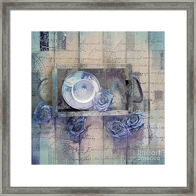 Tea Time - J043097070-add222 Framed Print by Variance Collections