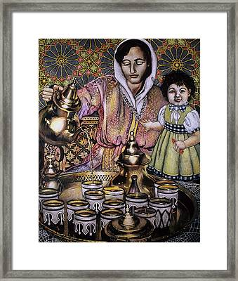 Tea Time Framed Print by JoAnna Pettit-Almasude