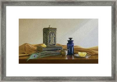 Tea With Lemon Framed Print by Barbara Groff
