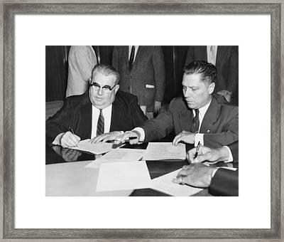 Teamster President Jimmy Hoffa Framed Print by Underwood Archives