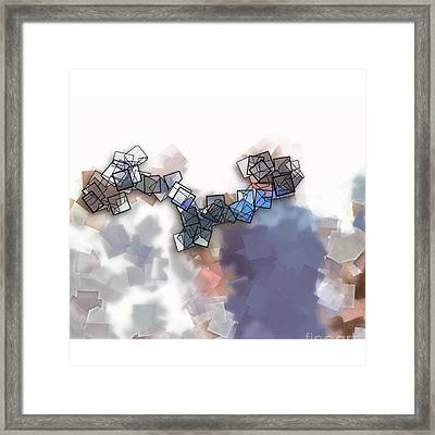 Teamwork - Abstract Tiles No 15.1203 Framed Print by Jason Freedman
