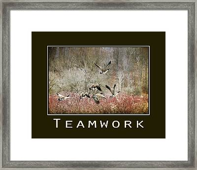 Teamwork Inspirational Poster Framed Print by Christina Rollo