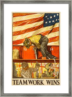 Teamwork Wins Framed Print by David Letts