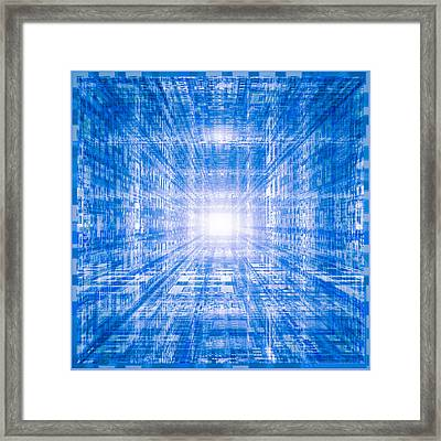 Technology Background Flash Tunnel Framed Print by Dan Collier